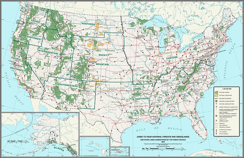 U.S. national forests and grasslands