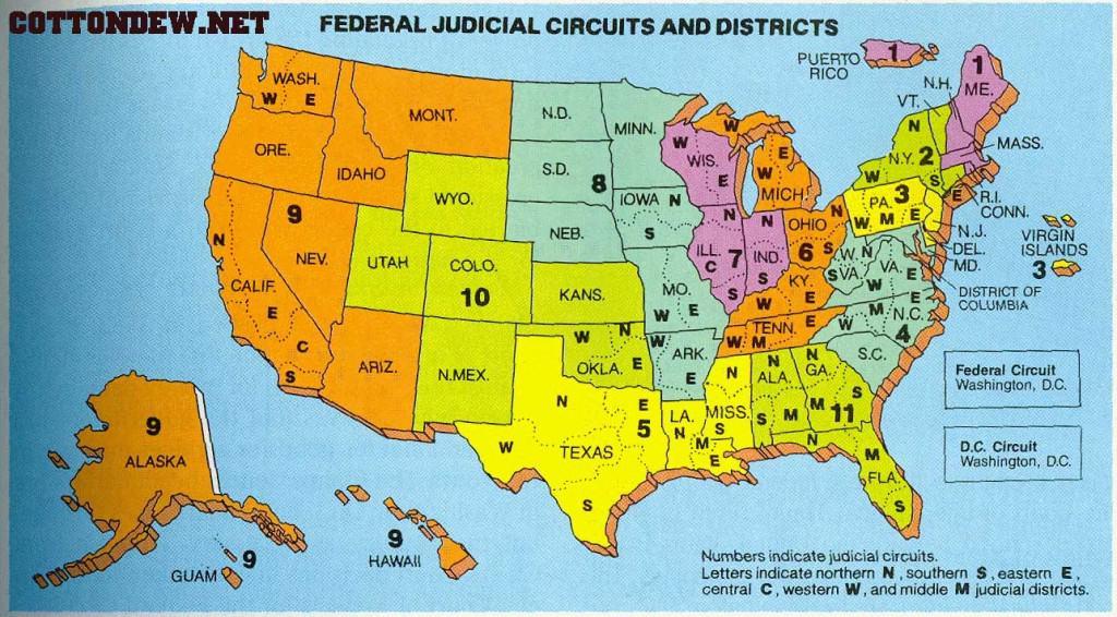 FederalJudicialCircuitsAndDistricts