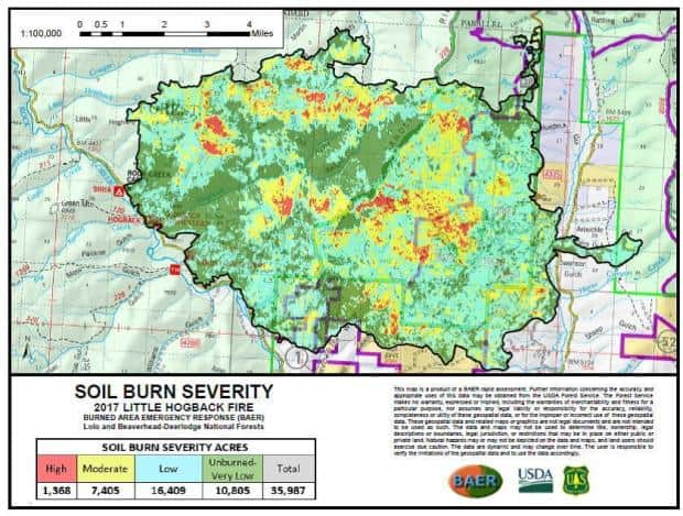 Forest Service releases soil burn severity maps for some Montana