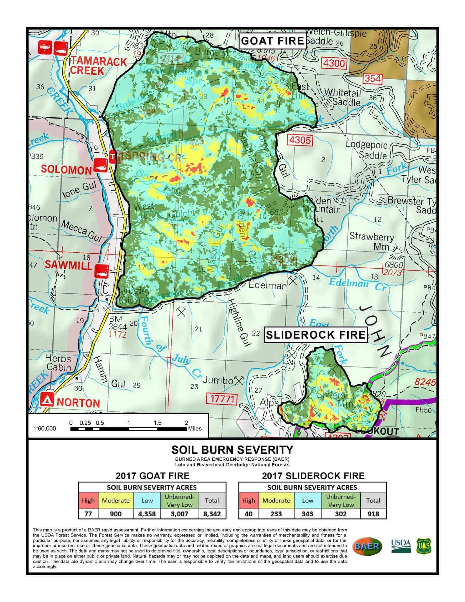 Forest Service Releases Soil Burn Severity Maps For Some Montana - Montana political map